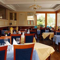 Sala colazione nel ristorante Parkhotel Waldheim am Sarnersee Relais du Silence Fotos
