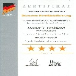 Certificat Heiners Parkhotel Fotos