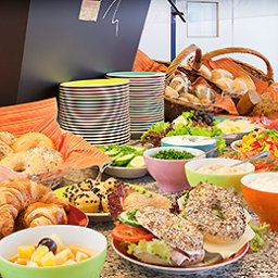 Sala de desayuno en el restaurante ibis Styles Hotel Aachen City (ex all seasons) Fotos