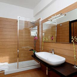 Camera da bagno Euro House Suites Rome Airport Fotos