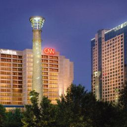 Exterior view Omni Hotel at CNN Center Fotos