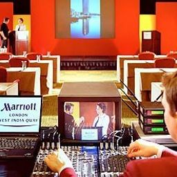 Bankettsaal London Marriott Hotel West India Quay Fotos