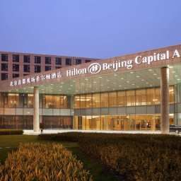 Vista exterior Hilton Beijing Capital Airport Fotos