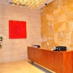 Reception Han's Hotel & Apartment Ningbo YinYi World Center Fotos